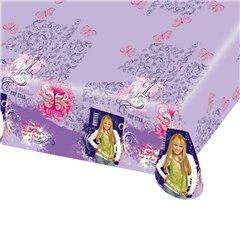 Fata de masa din plastic pentru petrecere copii - Hannah Montana, 180 x 120 cm, Amscan RM551392, 1 buc