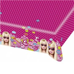 Fata de masa din plastic pentru petrecere copii - Totally Barbie, 180 x 120 cm, Amscan RM551971, 1 buc