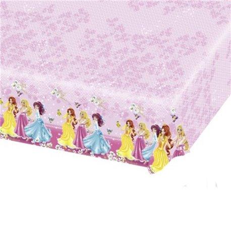 Fata de masa din plastic pentru petrecere copii - Disney Princess, 180 x 120 cm, Amscan RM552269, 1 buc