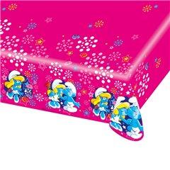 Fata de masa din plastic pentru petrecere copii - Smurfette, 180 x 120 cm, Amscan 552501, 1 buc