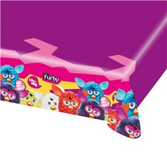 Furby Plastic Table Cover, 180 x 120 cm, Amscan RM552459, 1 piece