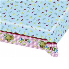 Lilleby Flowers Plastic Table cover, 180 x 120 cm, Amscan 551950, 1 piece