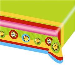 Fata de masa din plastic pentru petrecere copii - Smiley, 180 x 120 cm, Amscan 551274, 1 buc