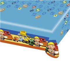 Fata de masa din plastic pentru petrecere copii - Bob the Builder, 180 x 120 cm, Amscan 552197, 1 buc