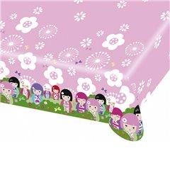 Fata de masa din plastic pentru petrecere copii - Kimmi Junior, 180 x 120 cm, Amscan 552206, 1 buc