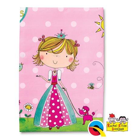 Fata de masa din plastic pentru petrecere copii - Princess, 180 x 120 cm, Qualatex 50896, 1 buc