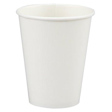 Pahare carton albe pentru petreceri sau nunti, 266ml, Amscan 58015-08, Set 8 buc