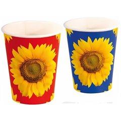 Pahare carton Sunflower pentru petrecere copii, 250ml, Amscan RM551419, Set 8 buc