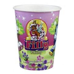 Pahare carton Filly Fairy pentru petrecere copii, 250ml, Amscan 552086, Set 8 buc