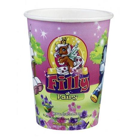 Pahare carton Filly Fairy pentru petrecere copii, 250ml, Amscan RM552086, Set 8 buc