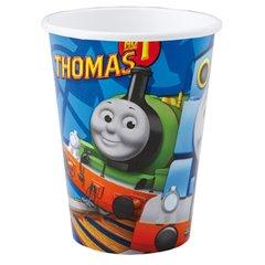 Pahare carton Thomas & Friends pentru petrecere copii, 250 ml, 552158, Set 8 buc
