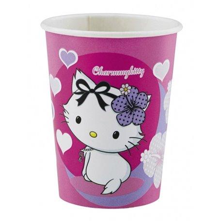 Pahare carton Charmmy Kitty pentru petrecere copii, 250ml, Amscan RM552185, Set 8 buc