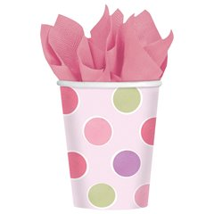 Little Princess Paper Party Cups, 266 ml, Amscan 589457, Pack of 8 pieces