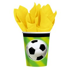 Pahare carton Championship Soccer pentru petrecere copii, 266ml, Amscan 587040, Set 8 buc