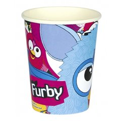 Pahare carton Furby pentru petrecere copii, 250ml, Amscan 552457, Set 8 buc