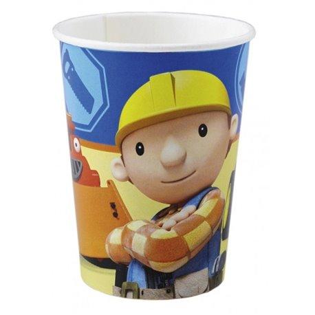 Pahare carton Bob the Builder pentru petrecere copii, 250ml, Amscan RM552195, Set 8 buc