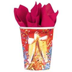 Pahare carton pentru petrecere, 250ml, Amscan 551427, Set 8 buc