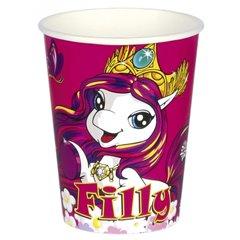 Pahare carton Filly Fairy pentru petrecere copii, 250ml, Amscan 552476, Set 8 buc