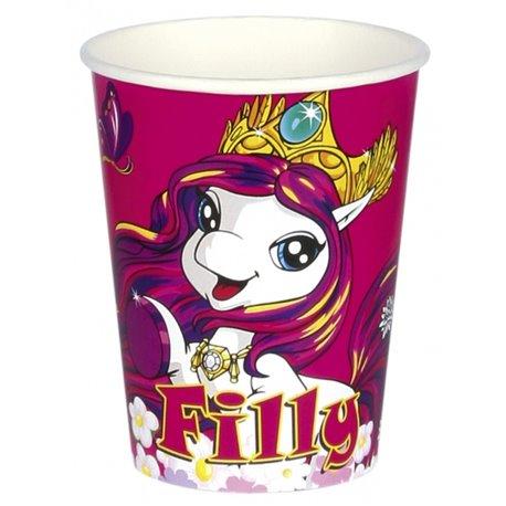 Pahare carton Filly Fairy pentru petrecere copii, 250ml, Amscan RM552476, Set 8 buc