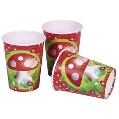 Pahare carton Good Luck pentru petrecere, 250ml, Amscan 552035, Set 8 buc