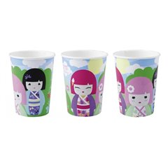 Kimmi Junior Paper Party Cups, 250 ml, Amscan RM552204, Pack of 8 pieces