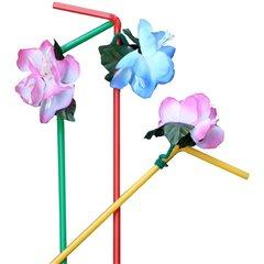 Paie flexibile multicolore cu flori pentru petrecere, Radar U19211, Set 6 buc