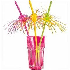 Cocktail Drinking Straws, Amscan RM552066, Pack of 8 pieces