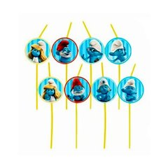 Smurfs Party Drinking Straws, Amscan RM552146, Pack of 8 pieces