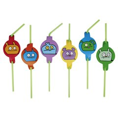 Ugly Dolls Party Drinking Straws, Amscan RM552447, Pack of 8 pieces