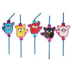 Paie flexibile pentru petrecere cu Furby, Amscan RM552460, Set 8 buc