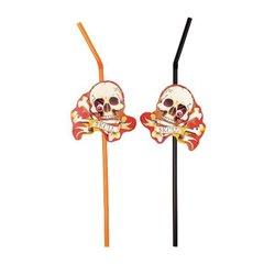 Paie flexibile cu craniu pentru petrecere Halloween, Amscan 551809, Set 8 buc