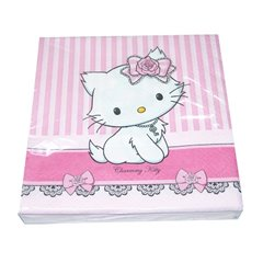 Charmmy Kitty Luncheon Napkins, 33 cm, Amscan 551728, Pack of 20 pieces