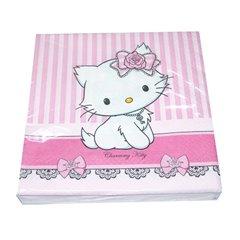 Servetele de masa pentru petrecere copii - Charmmy Kitty, 33 cm, Amscan 551728, Set 20 buc