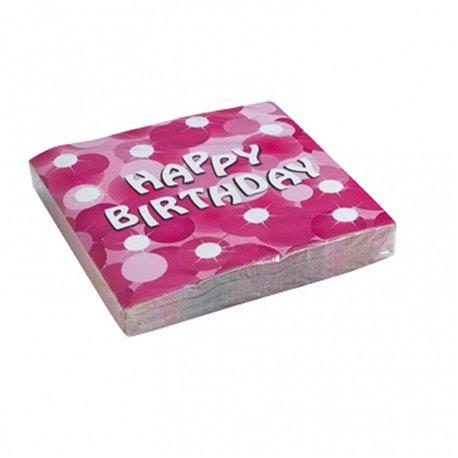 Servetele de masa pentru petrecere - Happy Birthday, 33 cm, Amscan 551773, Set 20 buc