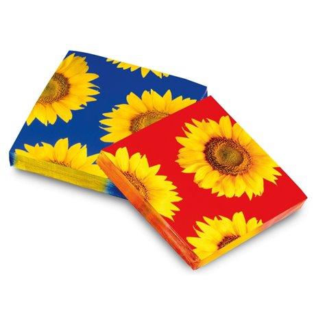 Servetele de masa pentru petrecere - Floarea soarelui, 33 cm, Amscan 551420, Set 20 buc