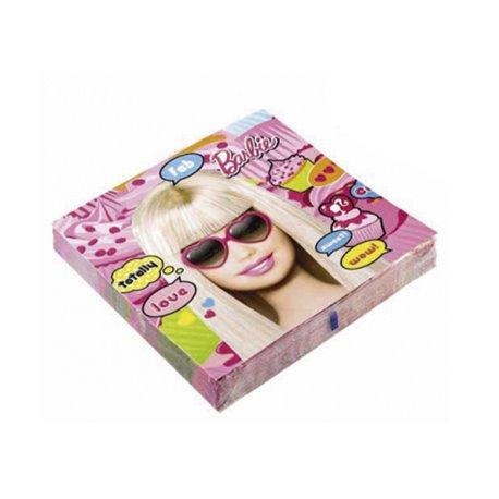 Servetele de masa pentru petrecere copii - Totally Barbie, 33 cm, Amscan RM551970, Set 20 buc