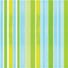 Servetele de masa cu dungi albastre si verzi pentru petreceri - 33 cm, Amscan 551881, Set 20 buc