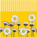 Daisy Yellow Luncheon Napkins, 33 cm, Amscan 551860, Pack of 20 pieces