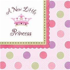 Servetele pentru petrecere copii - Little Princess, 33 x 33 cm, Amscan 519457, Set 16 buc