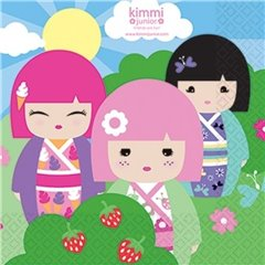 Kimmi Junior Luncheon Napkins - 33 cm, Amscan RM552205, Pack of 20 pieces