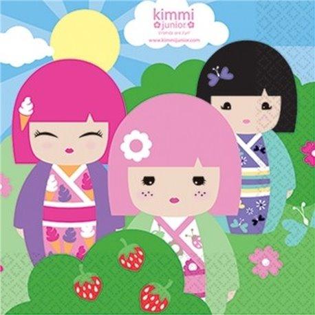 Servetele de masa pentru petrecere copii - Kimmi Junior, 33 cm, Amscan RM552205, Set 20 buc