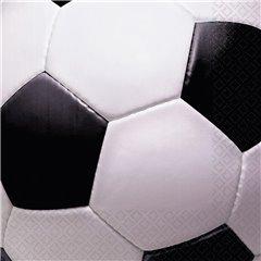 Servetele de masa pentru petrecere copii cu minge de fotbal, 33 cm, Amscan 519709, Set 16 buc