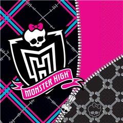 Servetele de masa pentru petrecere copii - Monster High, 33 cm, Amscan 552248, Set 20 buc