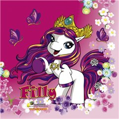 Filly Fairy Luncheon Napkins - 33 cm, Amscan RM552477, Pack of 20 pieces