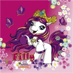 Servetele de masa pentru petrecere copii - Filly Fairy, 33 cm, Amscan RM552477, Set 20 buc