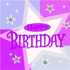 Servetele de masa pentru petrecere - Happy Birthday, 33 x 33 cm, Amscan 991803, Set 16 buc