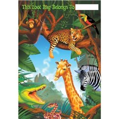 Pungute pentru cadouri copii la petreceri - Safari Party, Amscan 379765, Set 8 buc