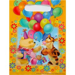 Winnie the Pooh Party Treat Bags - Party Supplies, Amscan RM550842, Pack of 6 pieces