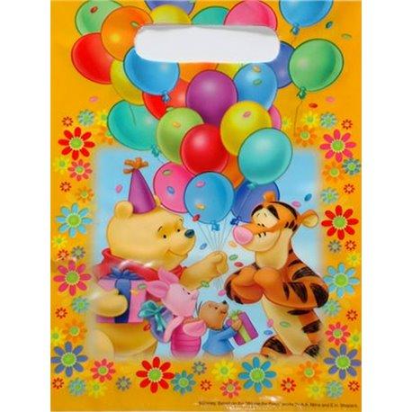 Pungute pentru cadouri copii la petreceri - Winnie the Pooh, Amscan RM550842, Set 6 buc