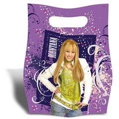 Pungute pentru cadouri copii la petreceri - Hannah Montana, Amscan 551437, Set 6 buc